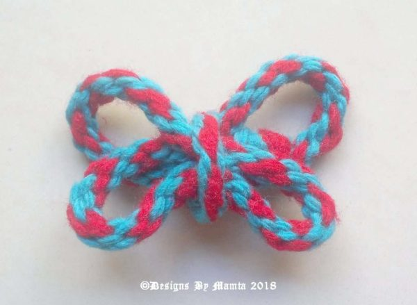 10 Mm Red Blue Handmade Twisted Cord