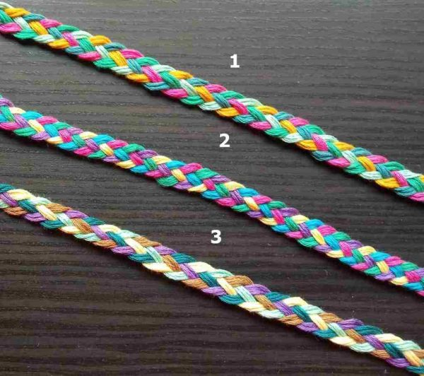 12mm Colorful Flat Braided Cord
