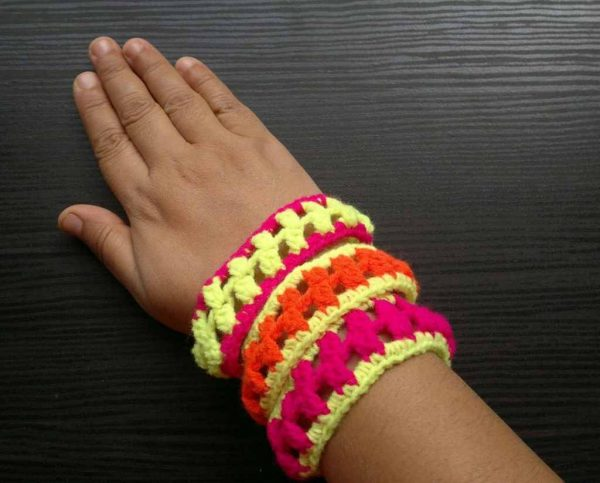 3 Crochet Stacking Bangles