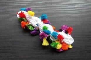 3mm White Crocheted Cotton Yarn