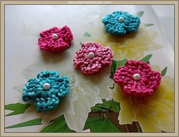 4 Petal Flower Crochet Pattern