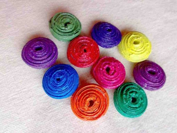 7 Rainbow Saucer Beads
