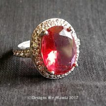 9 Carat Vintage Solitaire Ruby Ring