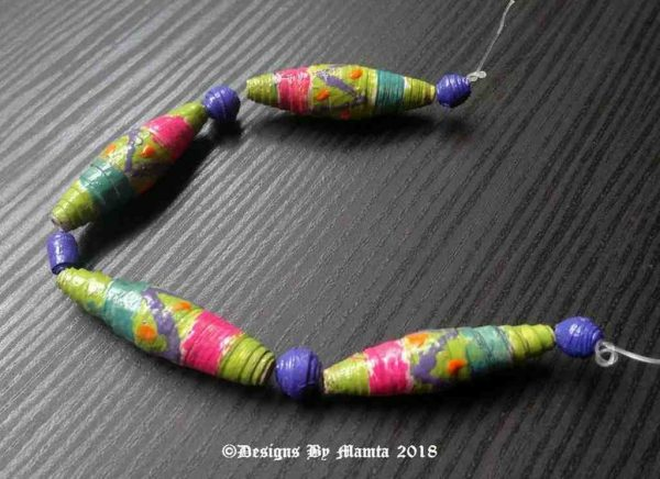 9 Handmade Designer Paper Beads