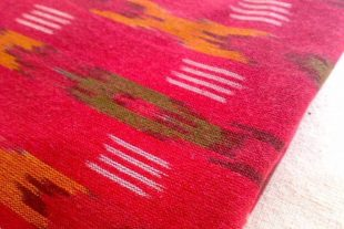 Amaranth Red Ikat Fabric