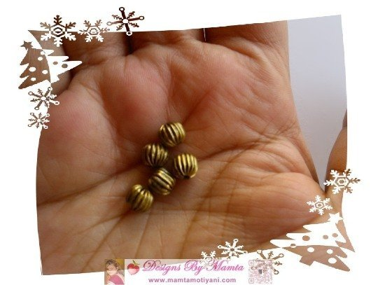 Antique Brass Spacer Beads