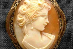 Antique D'a Bros Cameo Pendant