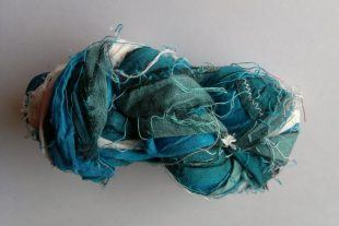 Arctic Beluga Whales Silk Sari Ribbons