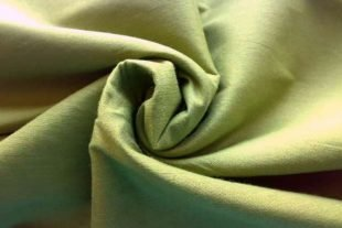 Asparagus Green Indian Art Silk Fabric