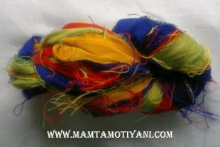 Autism Awareness Recycled Yarn Sari Silk Ribbon