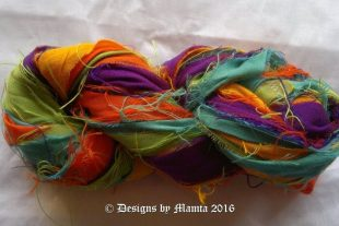 Autumn Sunshine Recycled Sari Yarn Ribbon
