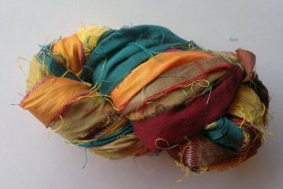Bee-eater Passerine Silk Sari Yarn Ribbon
