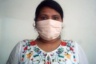 Beige Organic Face Mask