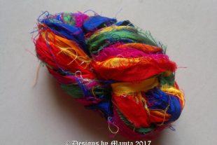 Birds Of Paradise Sari Ribbon Silk Yarn