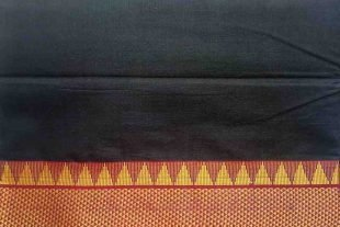 Black Ilkal Saree Fabric