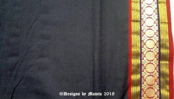 Black Saree Fabric