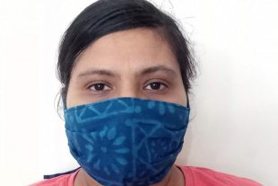 Blue Handmade Face Mask