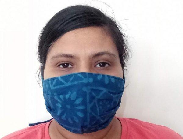 Blue Handmade Face Mask
