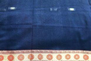 Blue Indian Sari Fabric