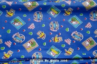 Blue Teddy Bear Children Nursery Fabric