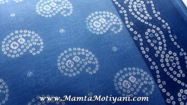 Blue Tie Dye Fabric