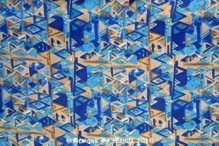 Blue Triangles Quilting Cotton Fabric