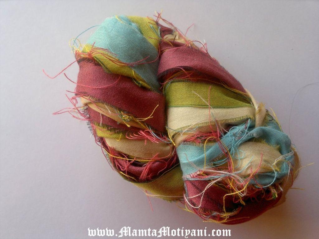Blushing Rose Fair Trade Sari Ribbon Yarn