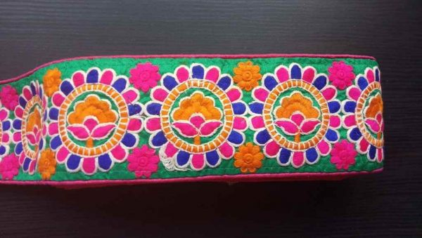 Bohemian Colorful Embroidered Trim