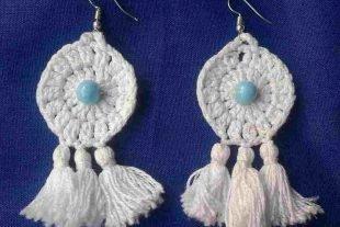 Bohemian Crochet Tassel Earrings