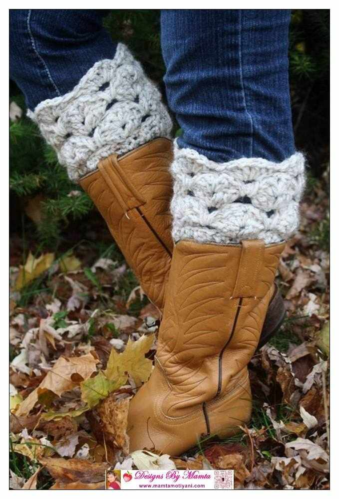 Boot Cuff Crochet Pattern Seashells Design Unique Crochet Patterns