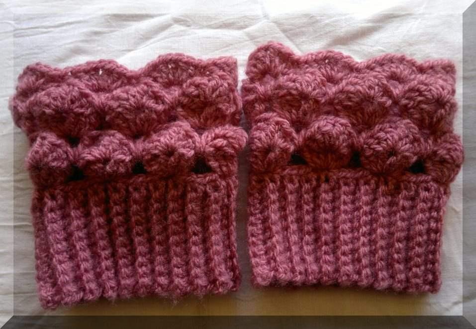 Boot Cuff Crochet Pattern Seashells Design Unique Crochet Patterns