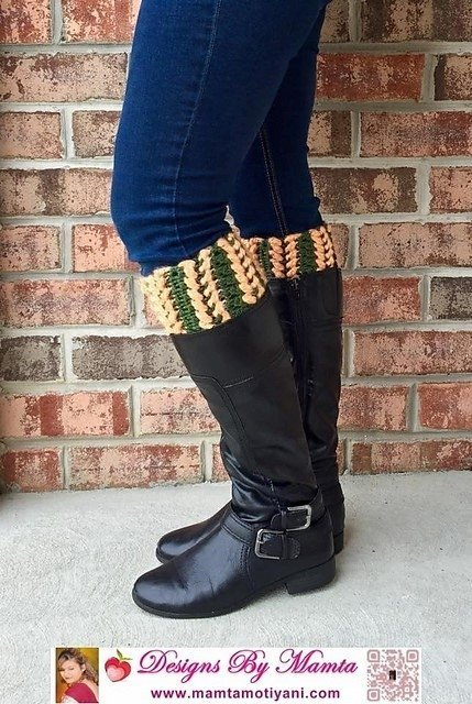 Braided Boot Cuff Pattern