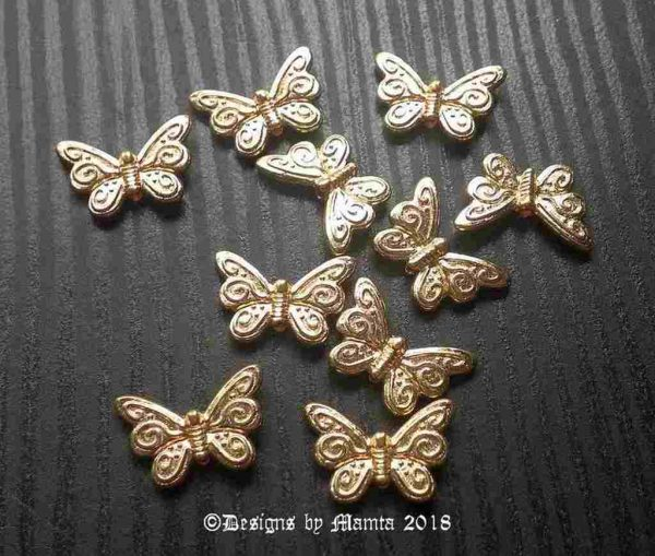Brass Butterfly Beads