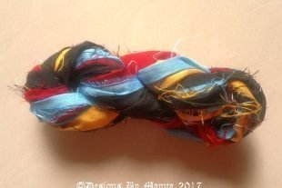 Broadbill Bird Silk Sari Yarn Ribbon