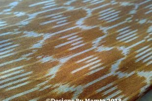Brown Cream Ikat Fabric
