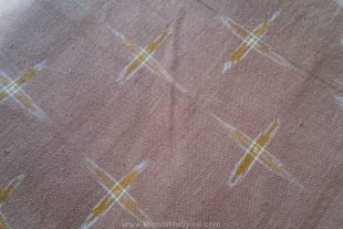 Brown Ikat Fabric