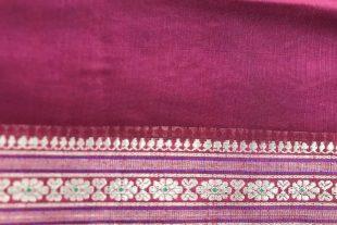 Burgundy Indian Sari Fabric