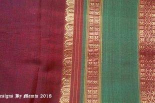 Burgundy Red Dual Tone Indian Sari Fabric