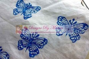 Butterflies Block Print Fabric