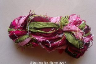 Carnation Flower Sari Yarn Ribbon