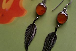 Carnelian Vintage Gemstone Earrings