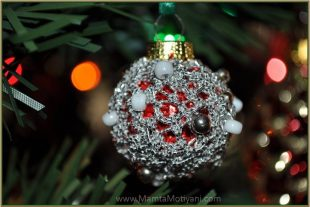 Christmas Bauble Crochet Ornament Pattern