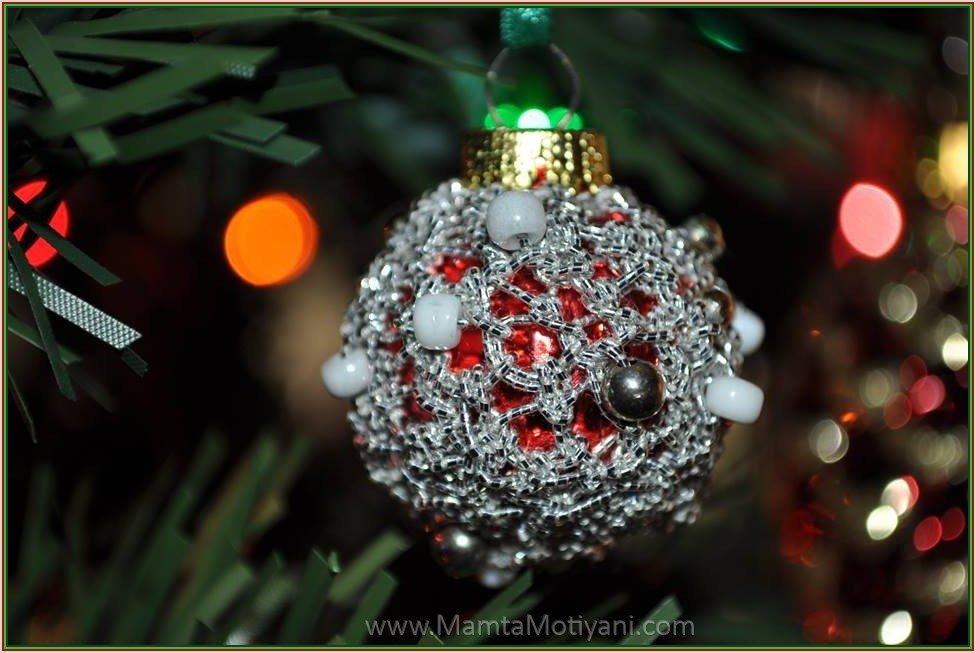 Christmas Bauble Crochet Ornament Pattern Unique Beads