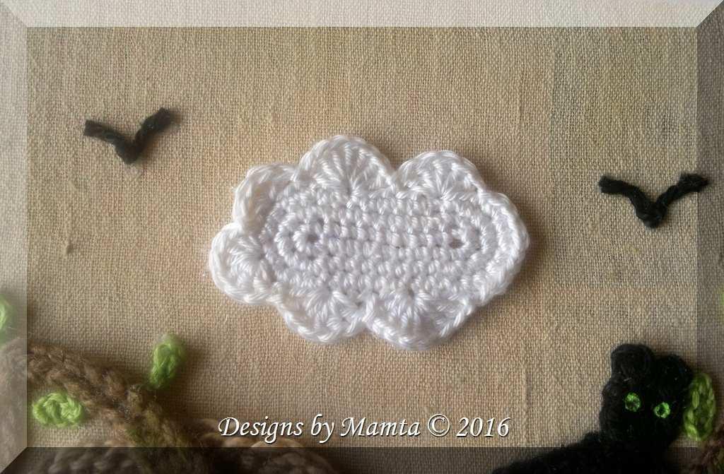 Crochet Cloud Applique Pattern Unique Crochet Embellishment Patterns