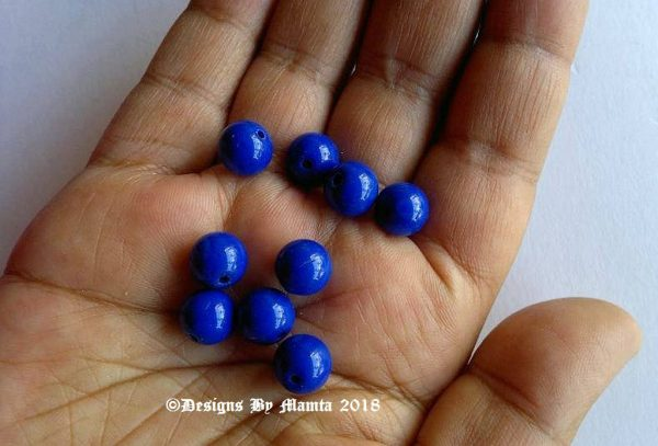 Cobalt Blue Druk Beads