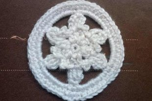 Cold Snowflake Moon Applique
