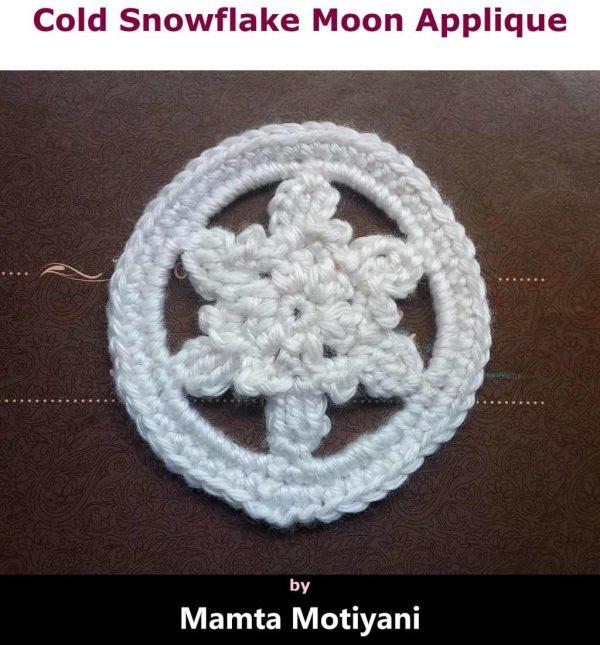 Cold Snowflake Moon Applique