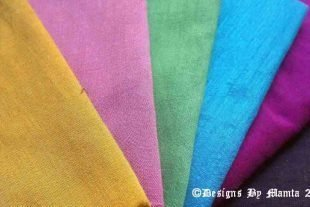 Colors Of Spring Fat Quarter Silk Fabric