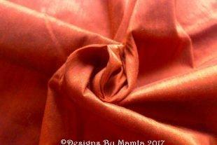 Copper Brown Art Silk Dupioni Fabric