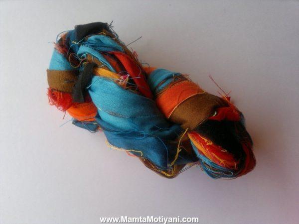 Cousins To The Fire Sari Yarn Ribbon